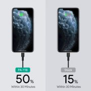 carga rápida del nuevo iPhone 11 pro al 50% toma solo 30 minutos