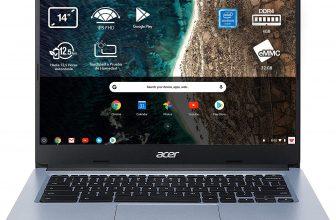 Acer Chromebook 314 – Portátil 14″ FullHD (Intel Celeron N4020, 4GB RAM, 64GB ), Color Plata