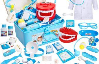 Buyger 35 Piezas Maletin Disfraz Doctora Kit Medicos para Niñas Ninos 3 4 5 6 Años