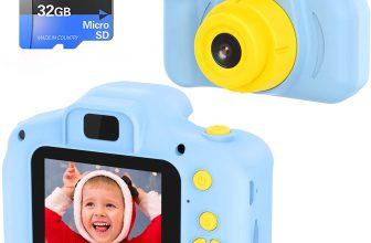 Cámara Digital para Niños Juguetes HD de 2 Pulgadas 1080P Tarjeta de 32GB TF