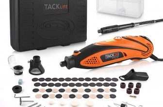 TACKLIFE Mini Amoladora Eléctrica Advanced Professional Kit con 80 Accesorios